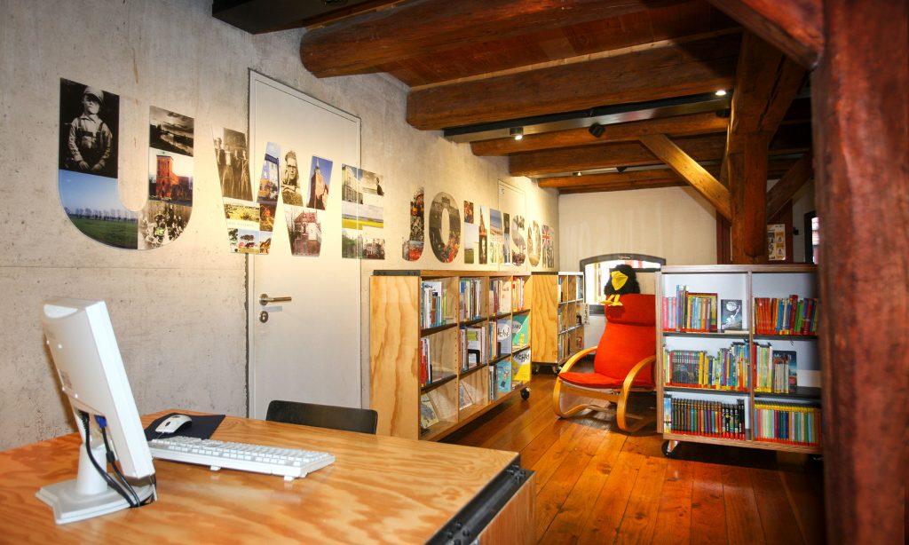 Bibliothek im Literaturhaus Uwe Johnson in Klütz. Foto: Silke Winkler